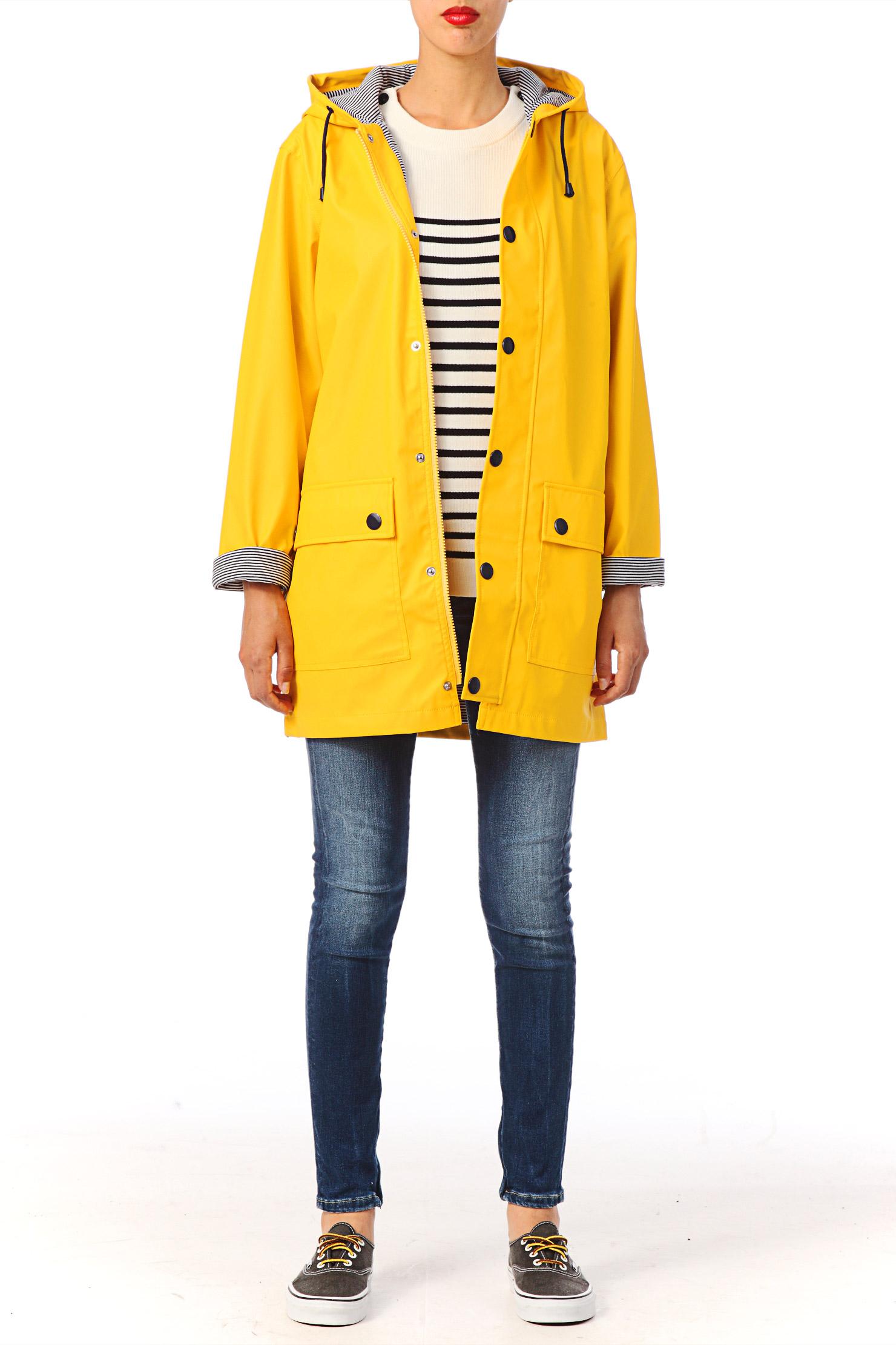 petit bateau yellow oilskin raincoat in yellow lyst. Black Bedroom Furniture Sets. Home Design Ideas
