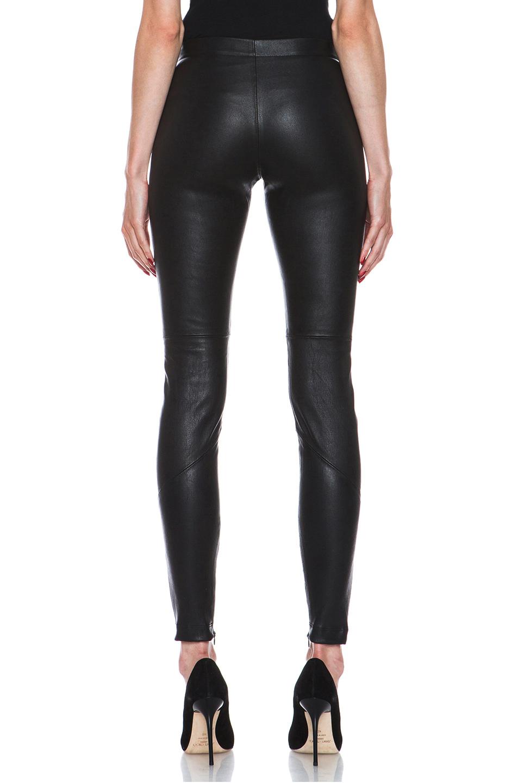 Nicholas Stretch Leather Legging in Black   Lyst