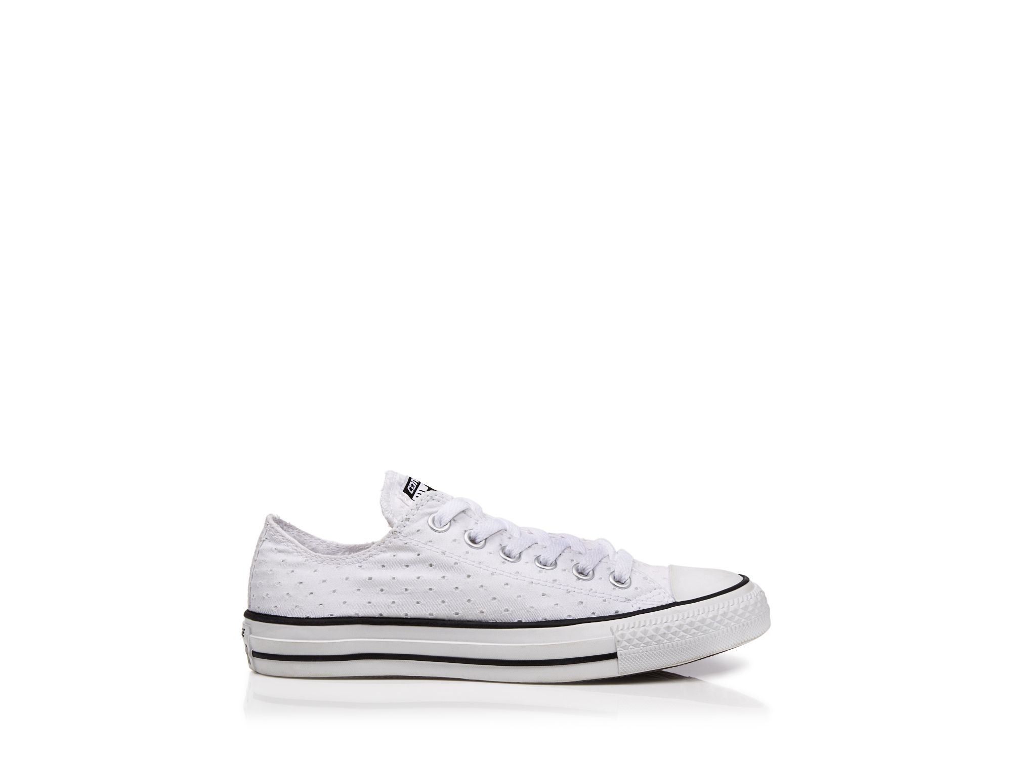 00196aee3dd0 Lyst - Converse Lace Up Sneakers - Eyelet Low Top in Blue