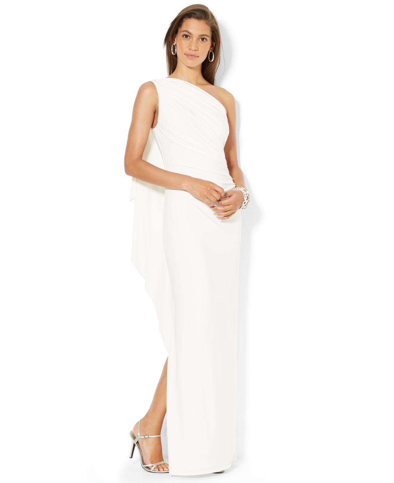 ralph lauren one shoulder brooch dress - Dr. E. Horn GmbH - Dr. E ...