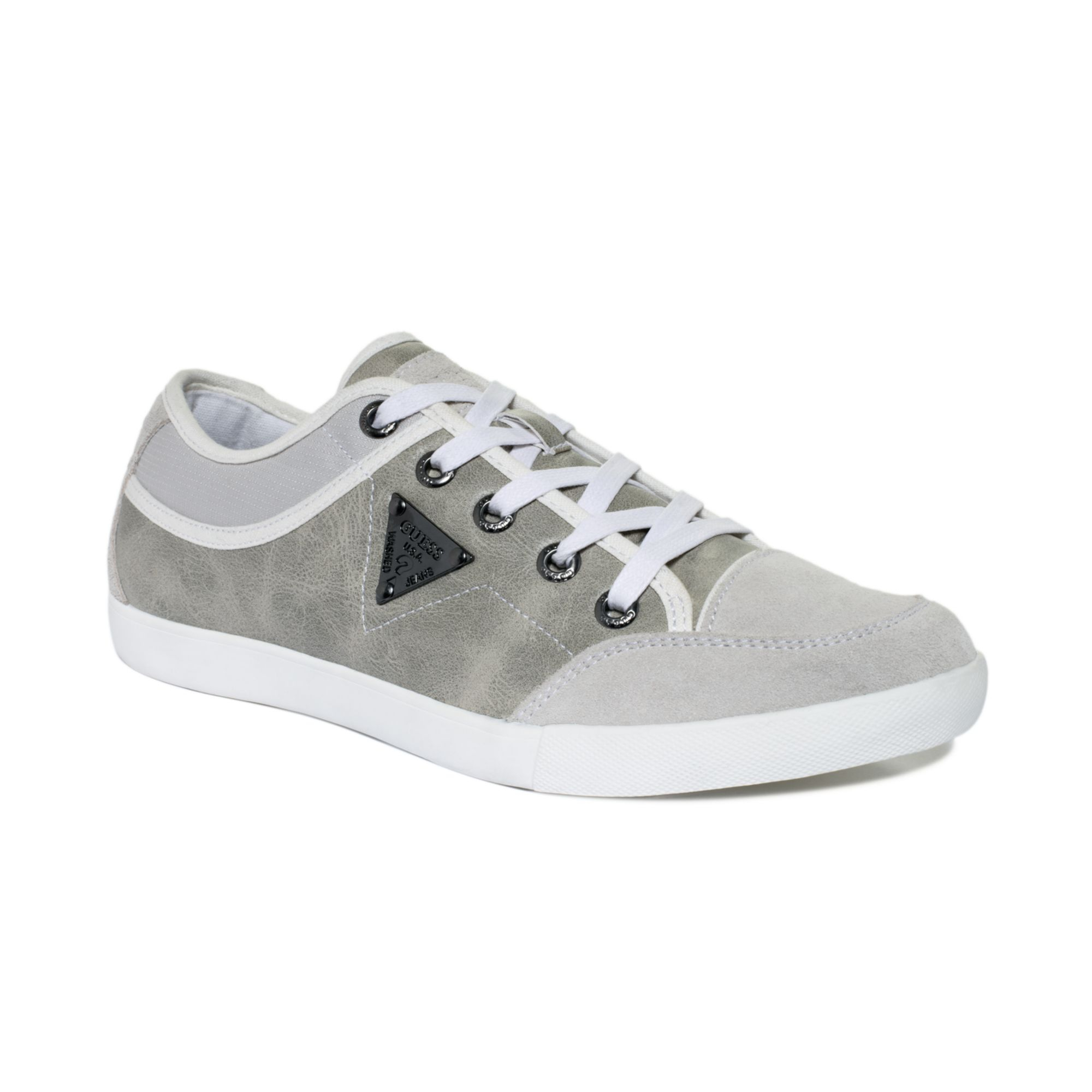 Guess Jenson Sneakers in White for Men | Lyst