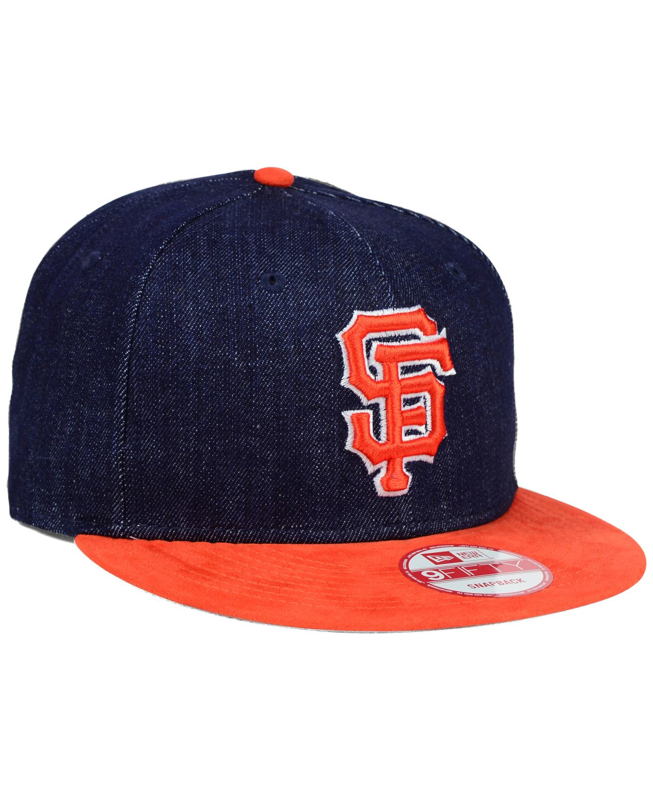 release date 867b0 6b3bf KTZ San Francisco Giants Denim Suede 9fifty Snapback Cap in Blue for ...