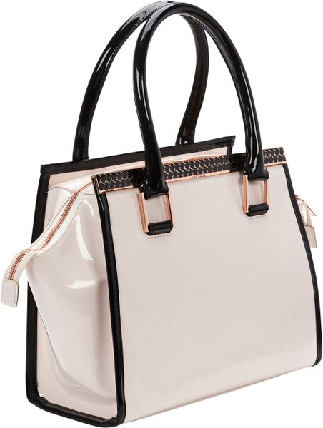 Ted Baker Ted Baker Quilted Tote Bag In Pink Nude Lyst