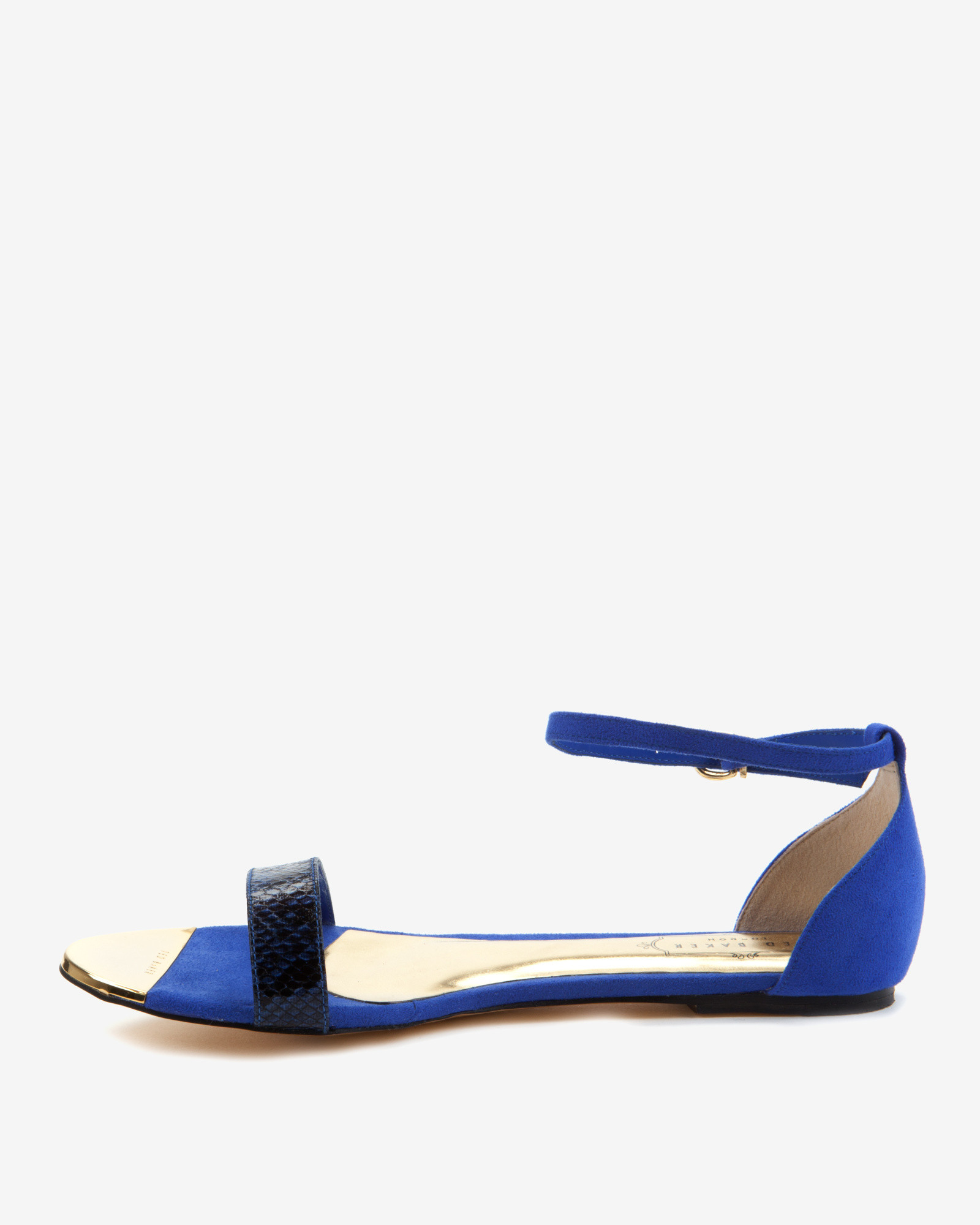 Lyst - Ted Baker Ankle Strap Sandals in Blue