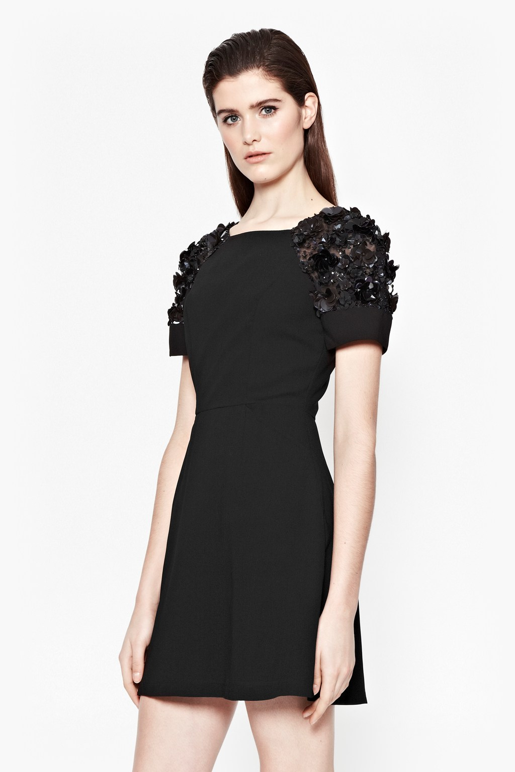 Lyst French Connection Cassin Flower Embellished Dress