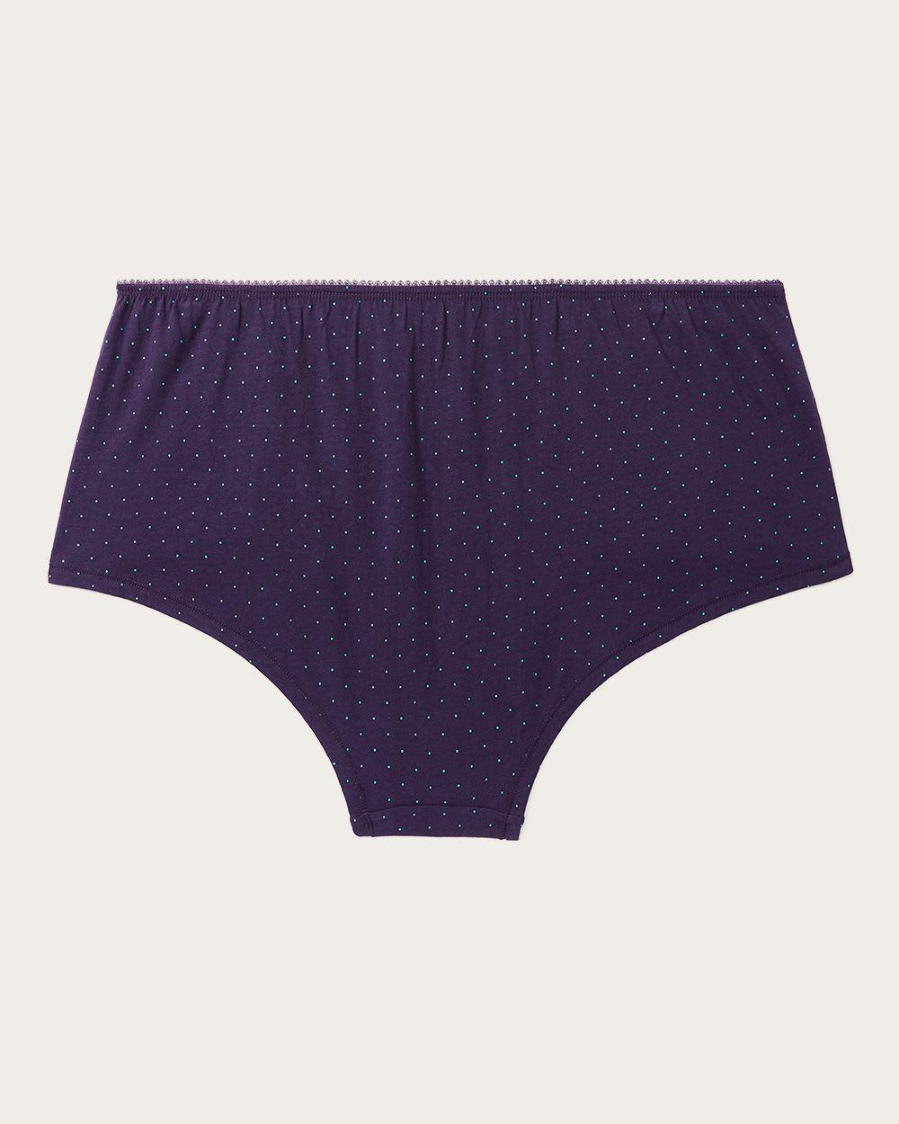 4c3f60ec434b3 Lyst - Addition Elle Polka Dot Cotton Boyshort Panty - Ti Voglio in Purple