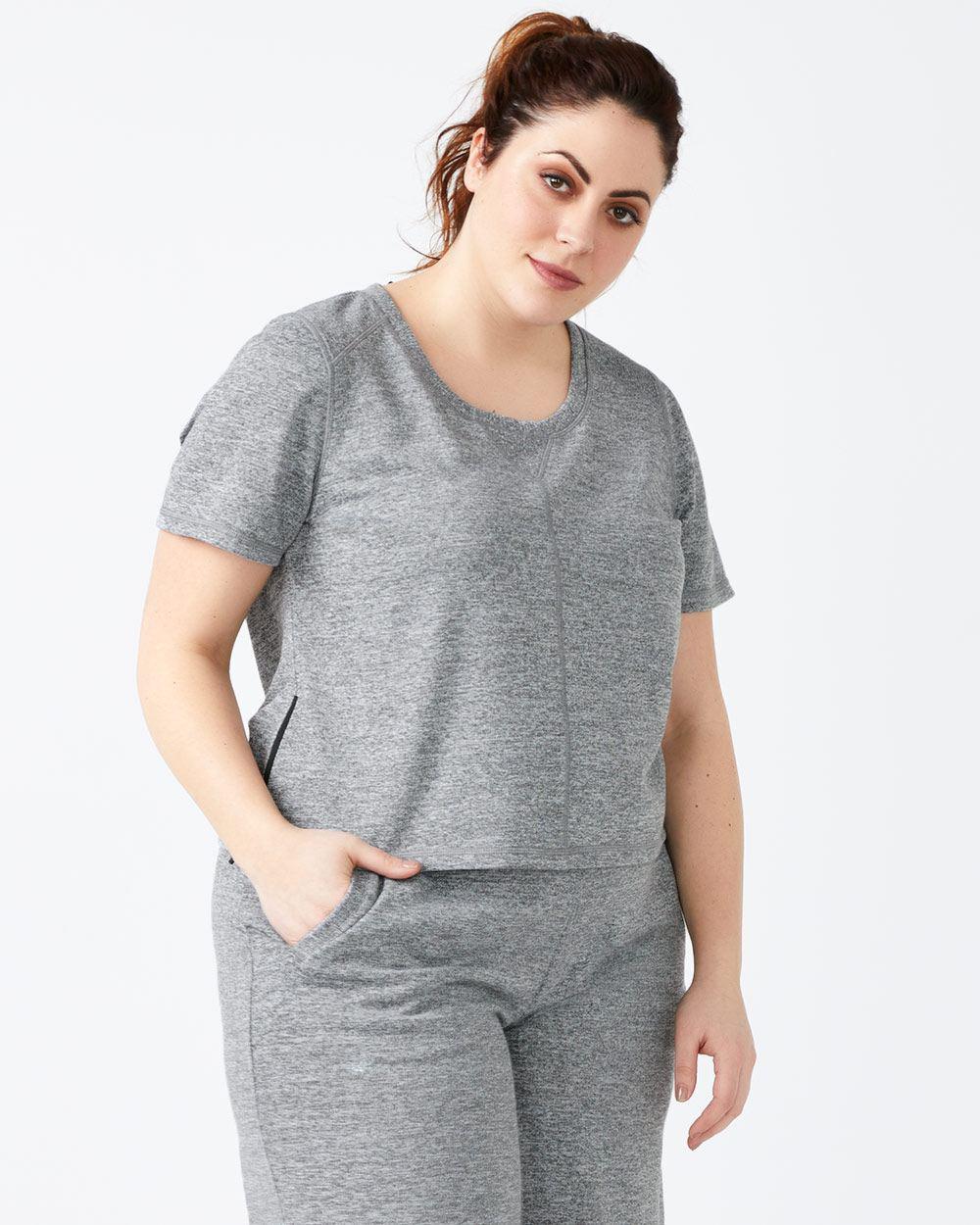 fe2c62b26af66 Lyst - Addition Elle Athleisure - Plus-size Crop Top in Gray