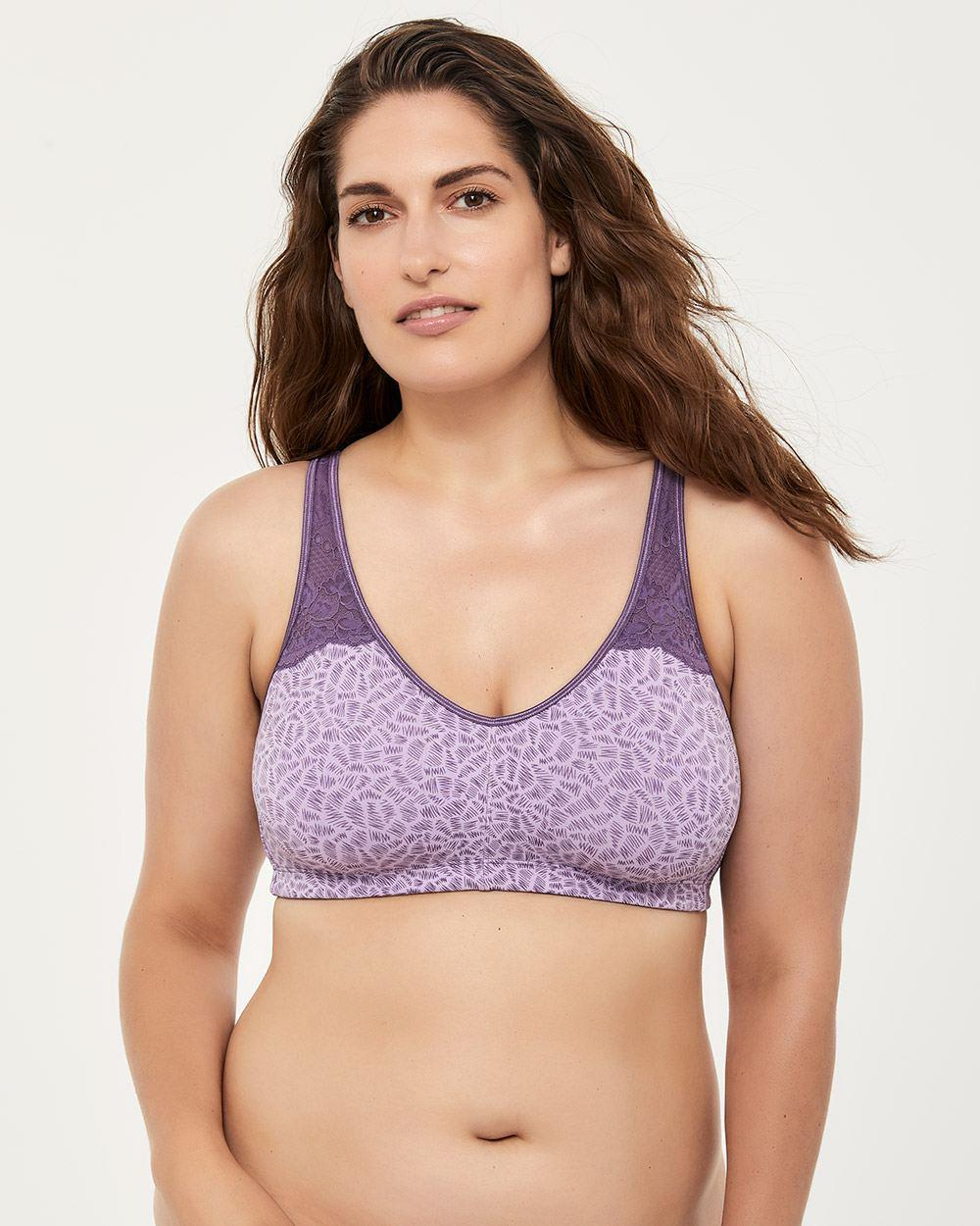 346b7d876931f Addition Elle. Women s Purple Printed Wirefree Cotton Bra ...
