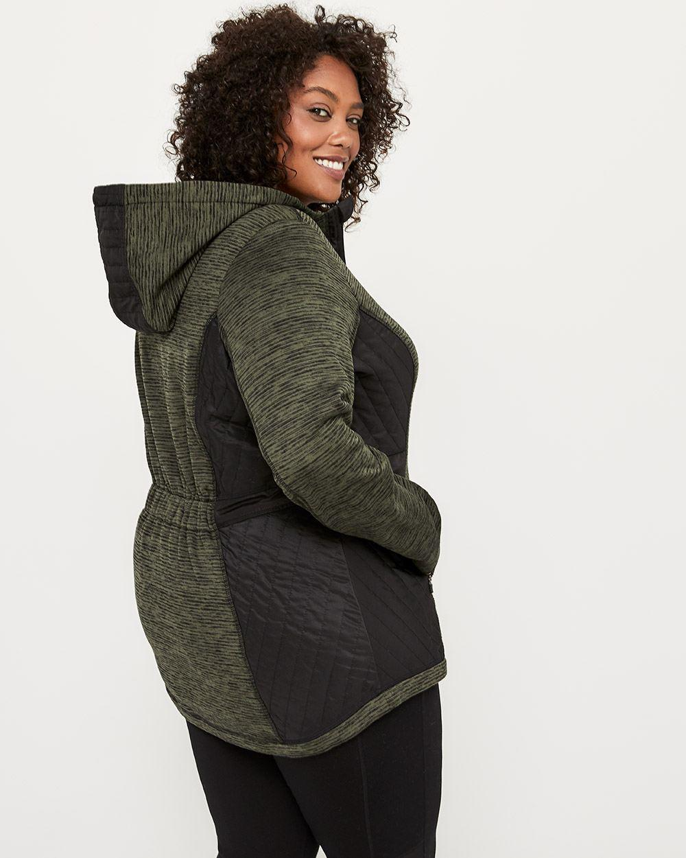 4f83dc633659a Lyst - Addition Elle Plus-size Hooded Jacket - Activezone in Black
