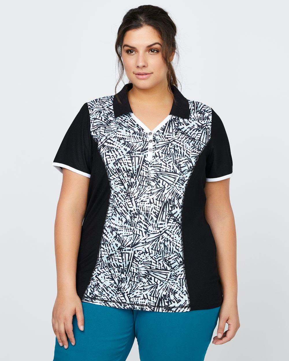 Lyst Addition Elle Printed Plus Size Golf Polo Sports In Black