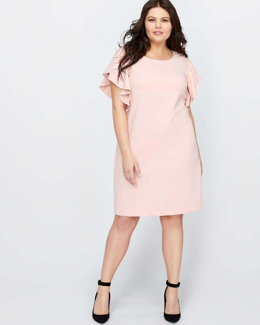 02b288909f Addition Elle Michel Studio Ruffle Sleeve Dress in Pink - Lyst