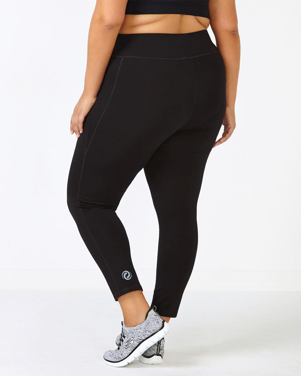 c5d5413a84a8b Lyst - Addition Elle Essentials - Plus-size Basic 7/8 Legging in Black