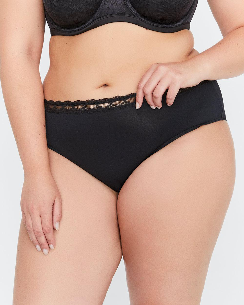 02fbb7777ba257 Lyst - Addition Elle Modal High Cut Panty - Déesse Collection in Black