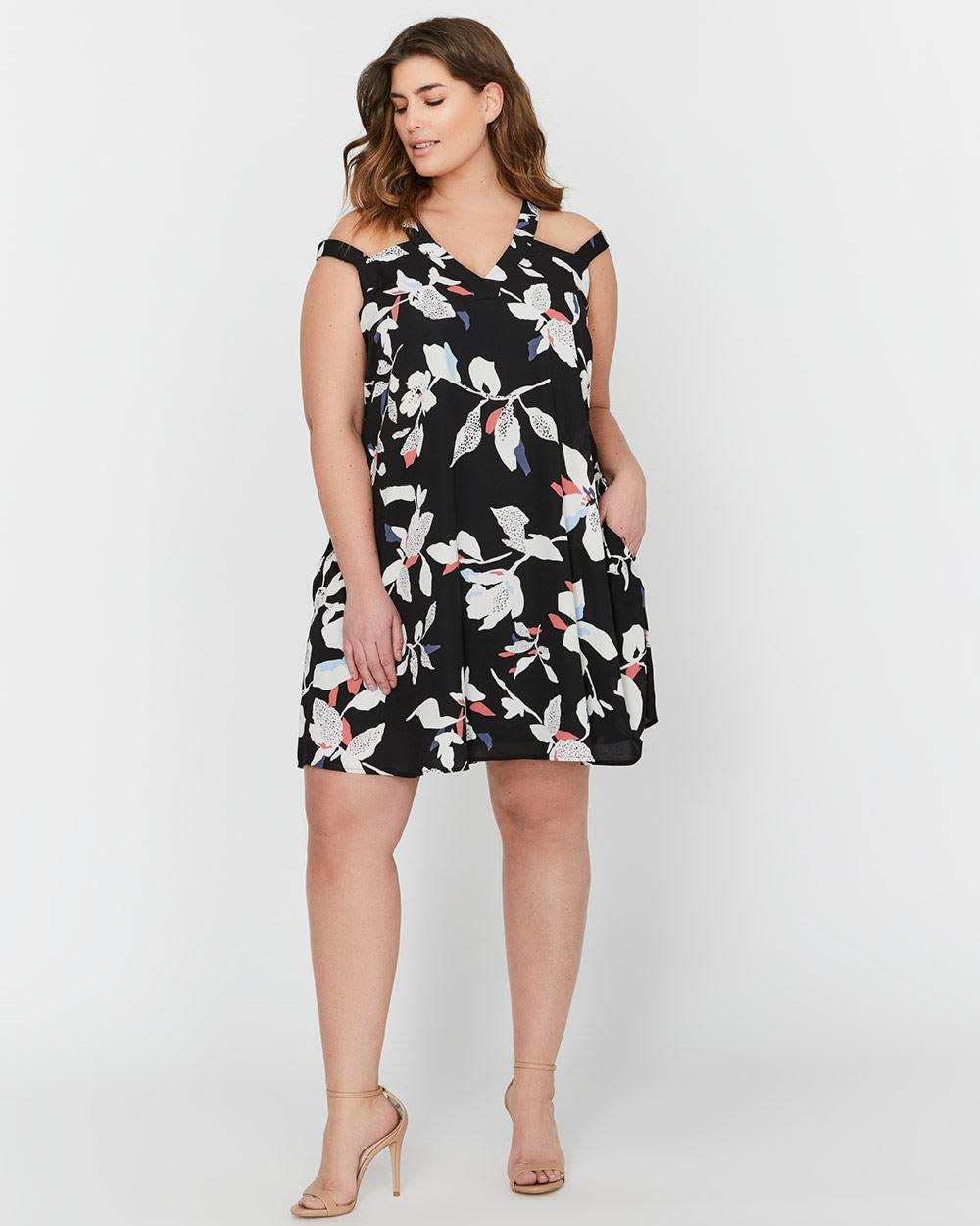 06e1e7ef835ee Lyst - Addition Elle Michel Studio Printed Dress in Black