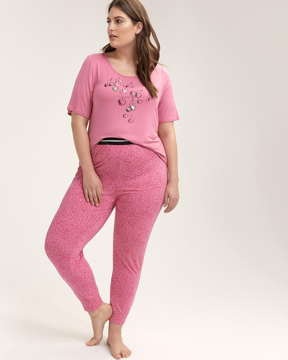 d3e7f2982 Lyst - Addition Elle Animal Print Pyjama Pant - Ti Voglio in Pink