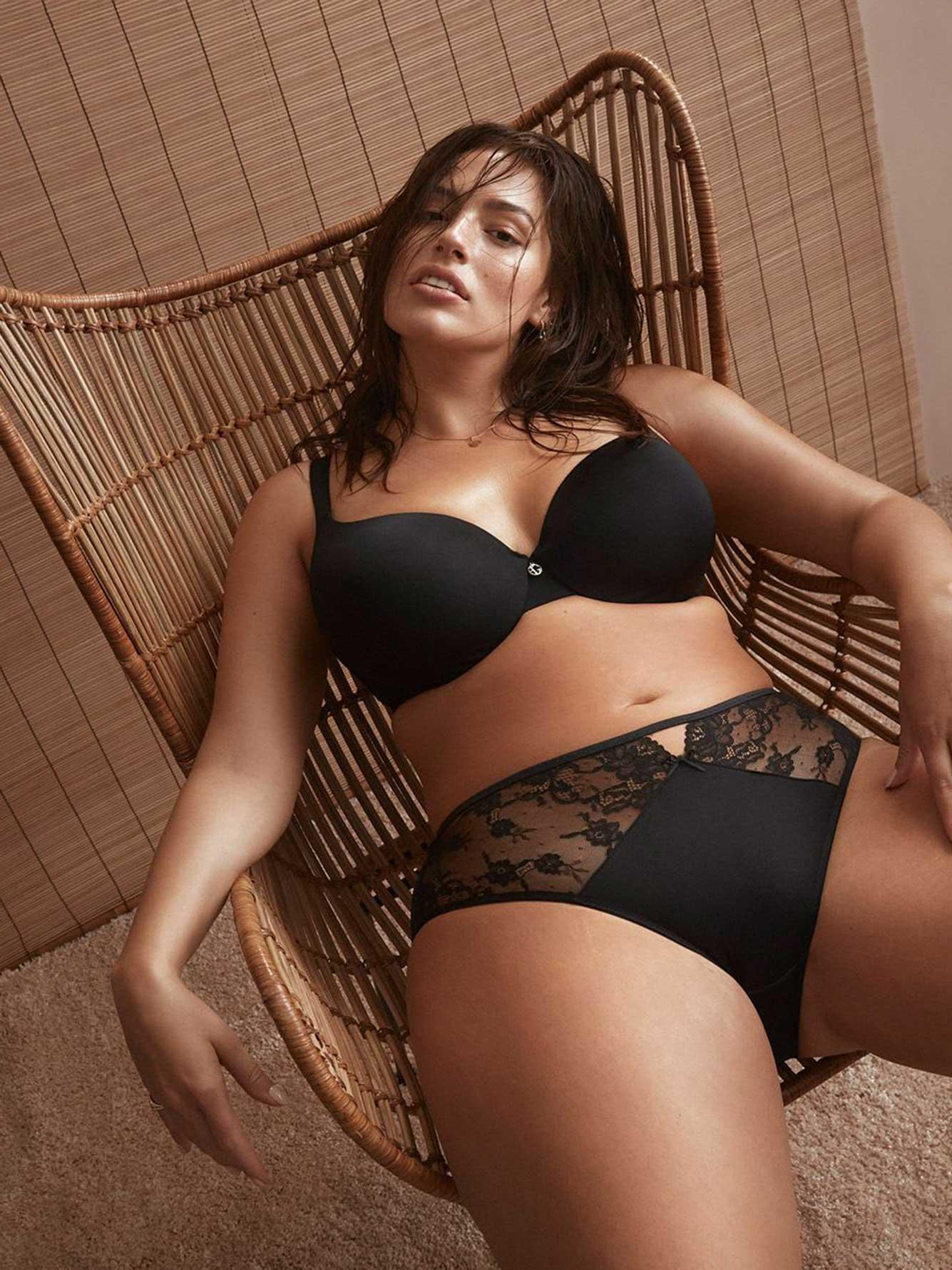 a2608994e Addition Elle - Black Lace Embellished Icon T-shirt Bra - Ashley Graham -  Lyst. View fullscreen