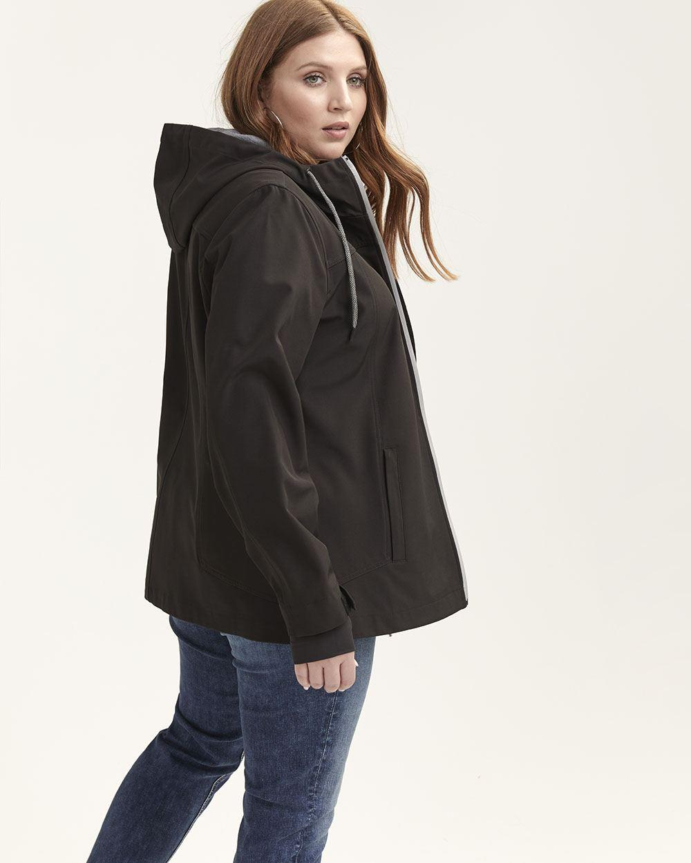 9cb957d941 Lyst - Addition Elle Casual Soft-shell Hooded Jacket - Nola in Black