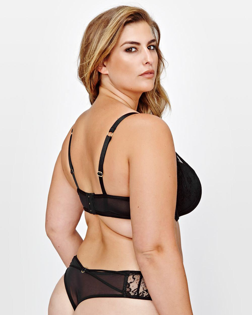 d249b290a56b5 Lyst - Addition Elle Ashley Graham Diva Lace   Straps Bra With Front Strap  in Black