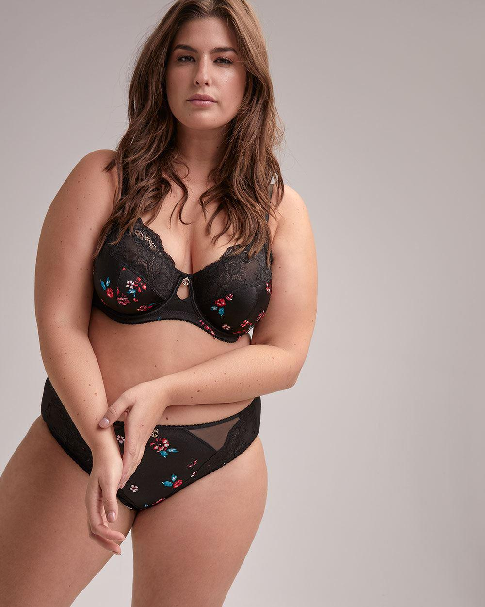 c0c140e2b747b Lyst - Addition Elle Fatal Attraction Bra With Print And Lace