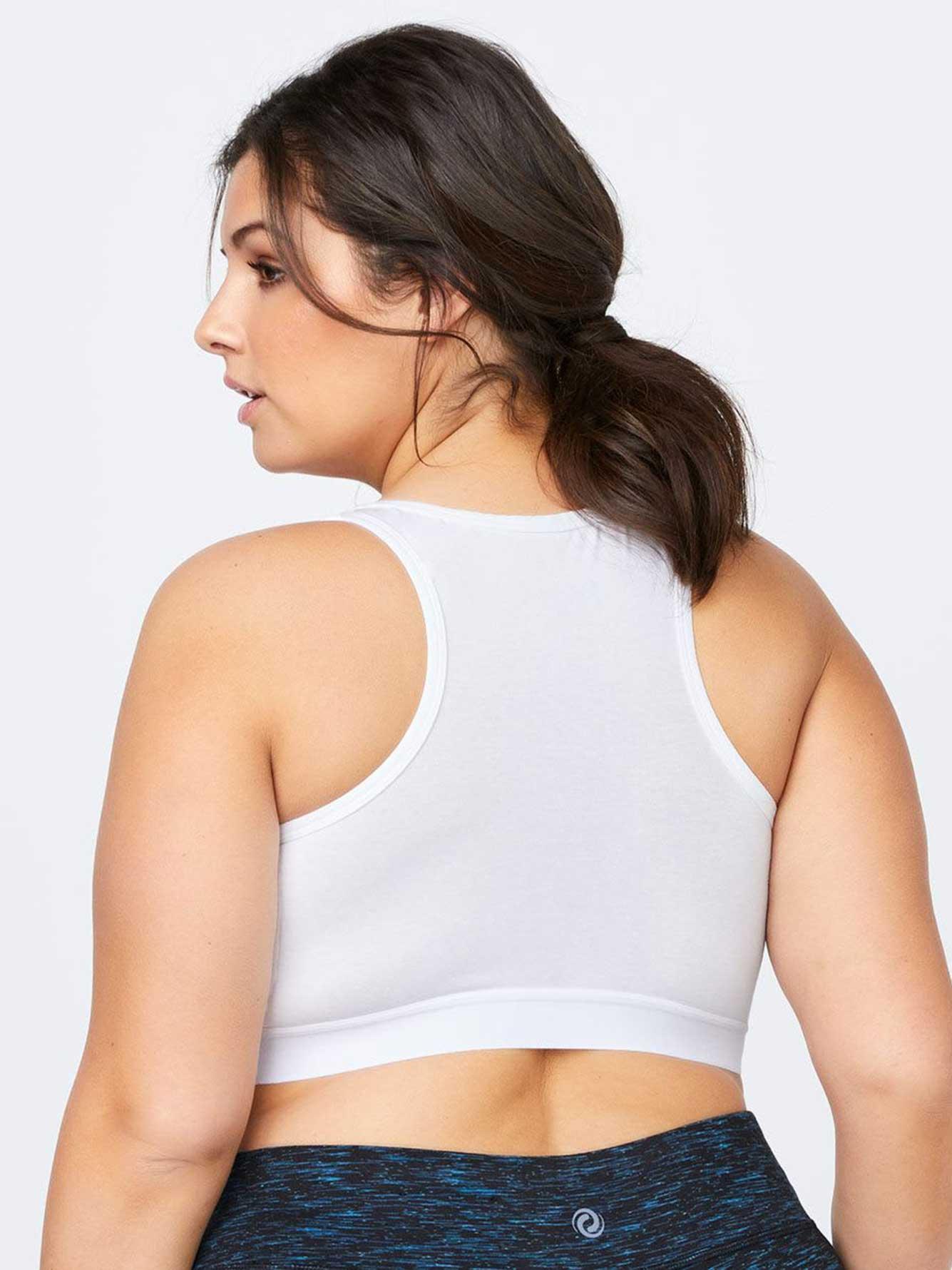 875ecb65e26 Addition Elle Cotton Plus-size Bralette With Mesh - Activezone in ...