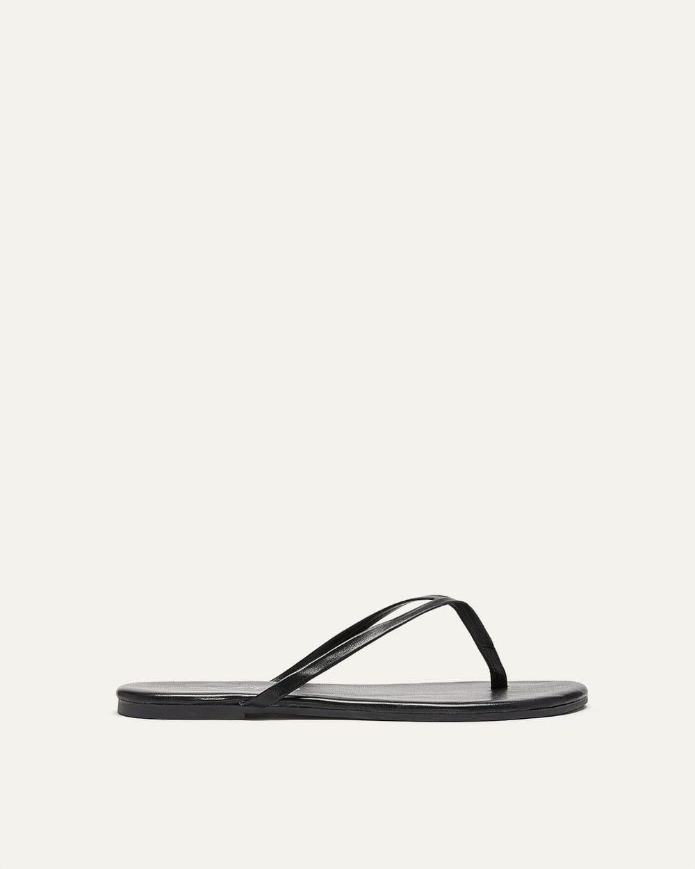 e18abc30f Lyst - Addition Elle Wide Flip-flop Sandals in Black
