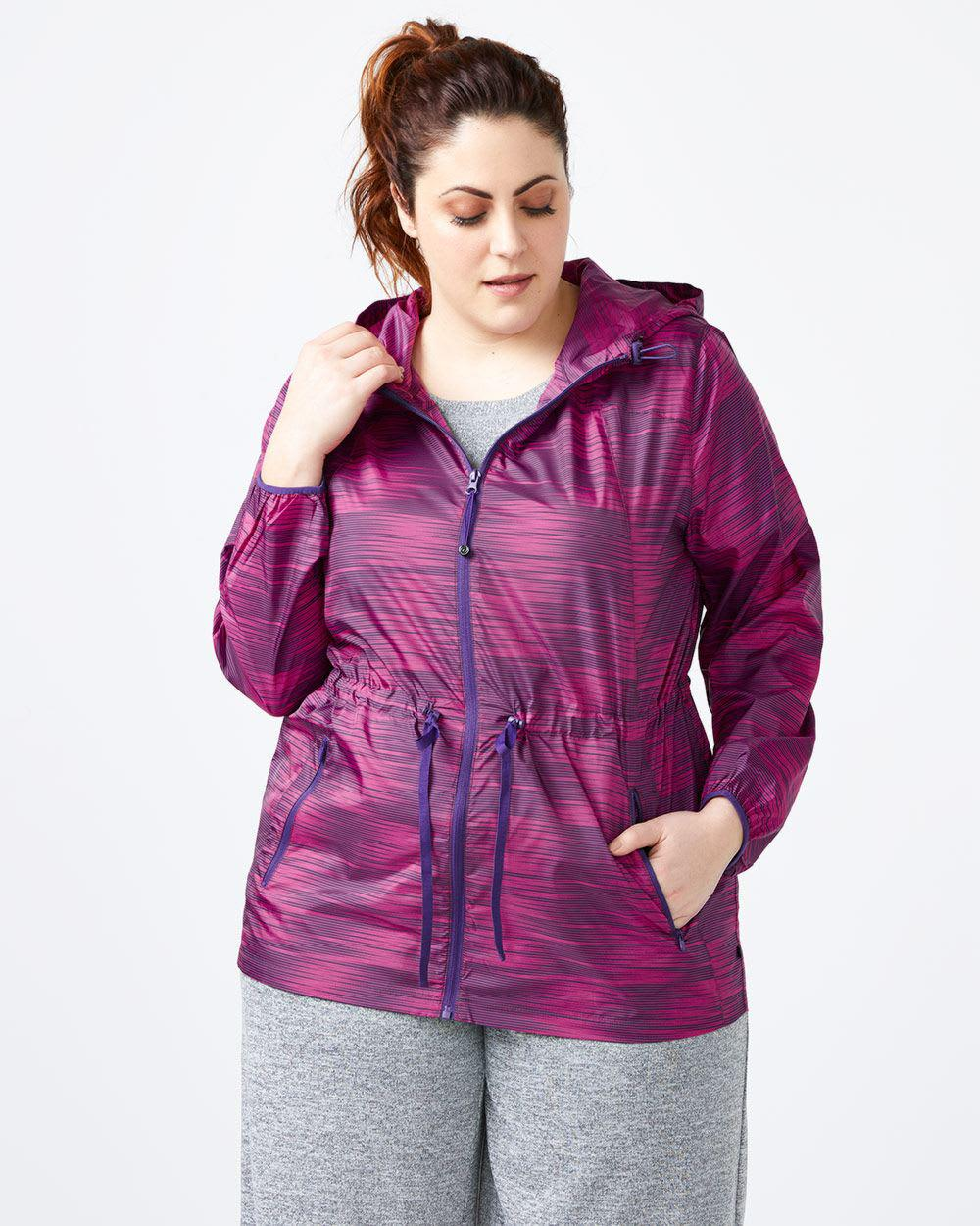 315893b5006 Lyst - Addition Elle Plus-size Packable Jacket With Hood ...