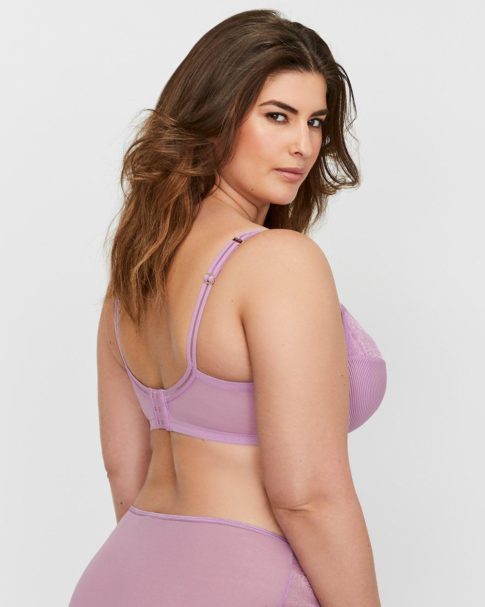 dda557caa3a Lyst - Addition Elle Ashley Graham Fatal Attraction Shadow Stripe Bra in  Purple - Save 21%