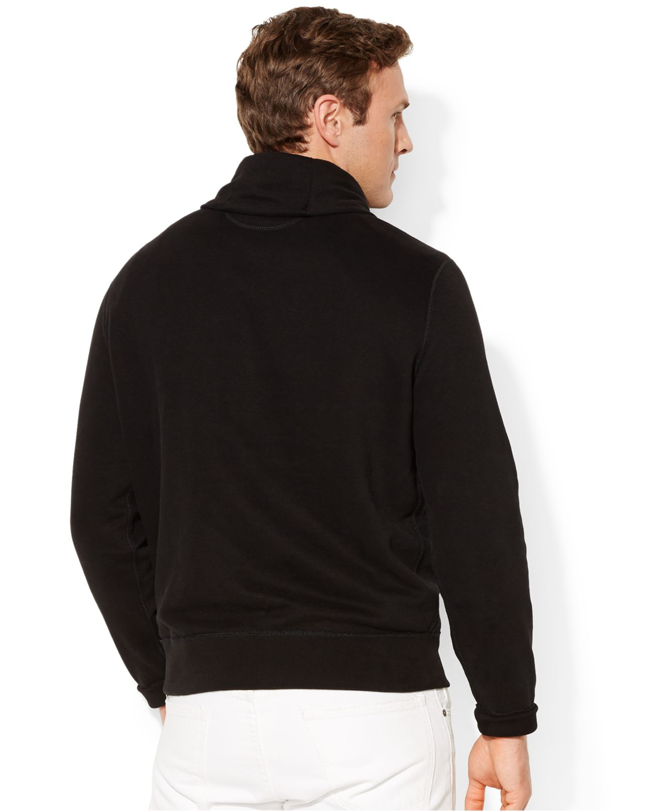 Polo Ralph Lauren Big And Tall Pima Fleece Shawl Pullover