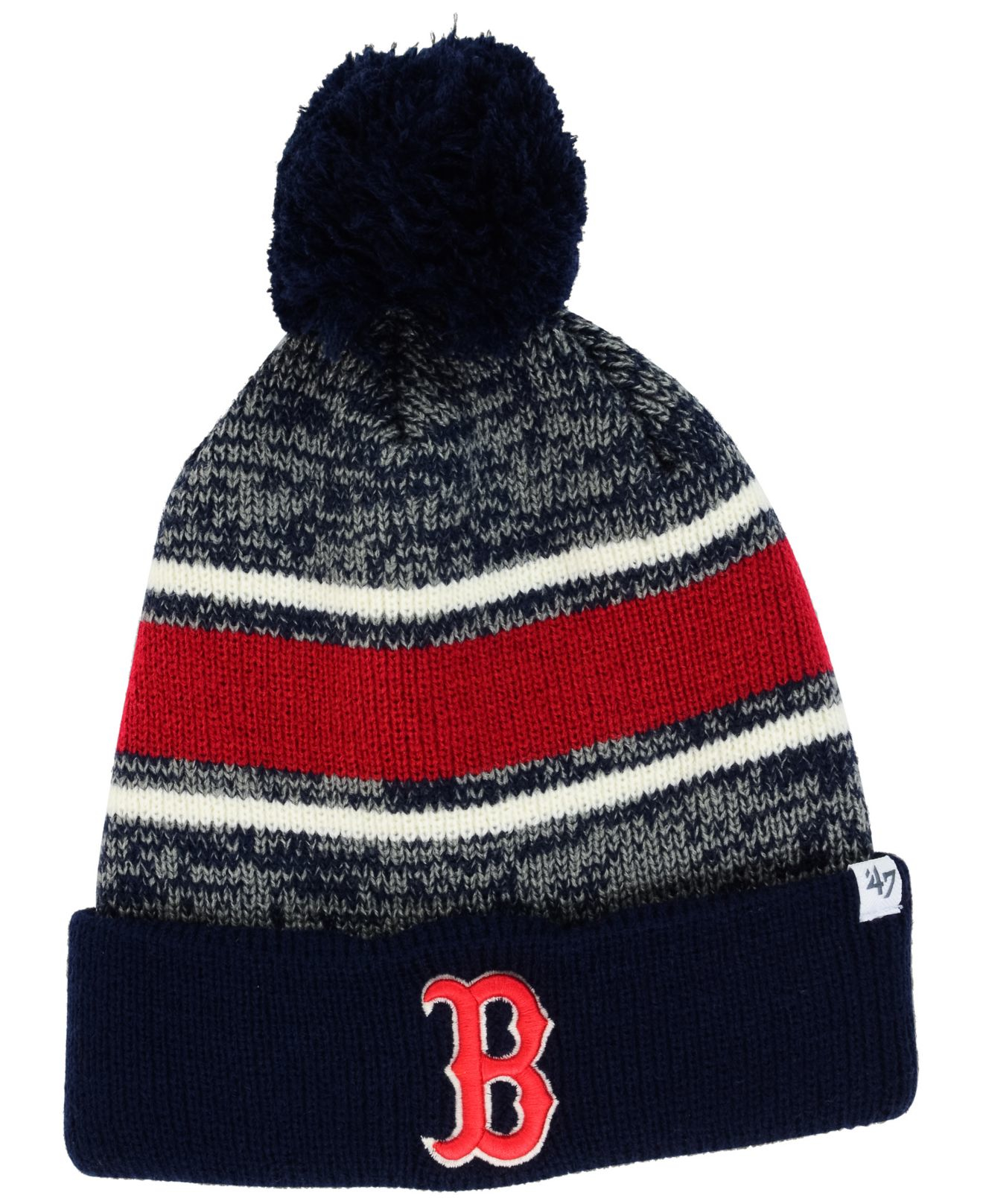469aadd469f ... netherlands lyst 47 brand boston red sox fairfax knit hat in blue for  men b5c99 8c7ee