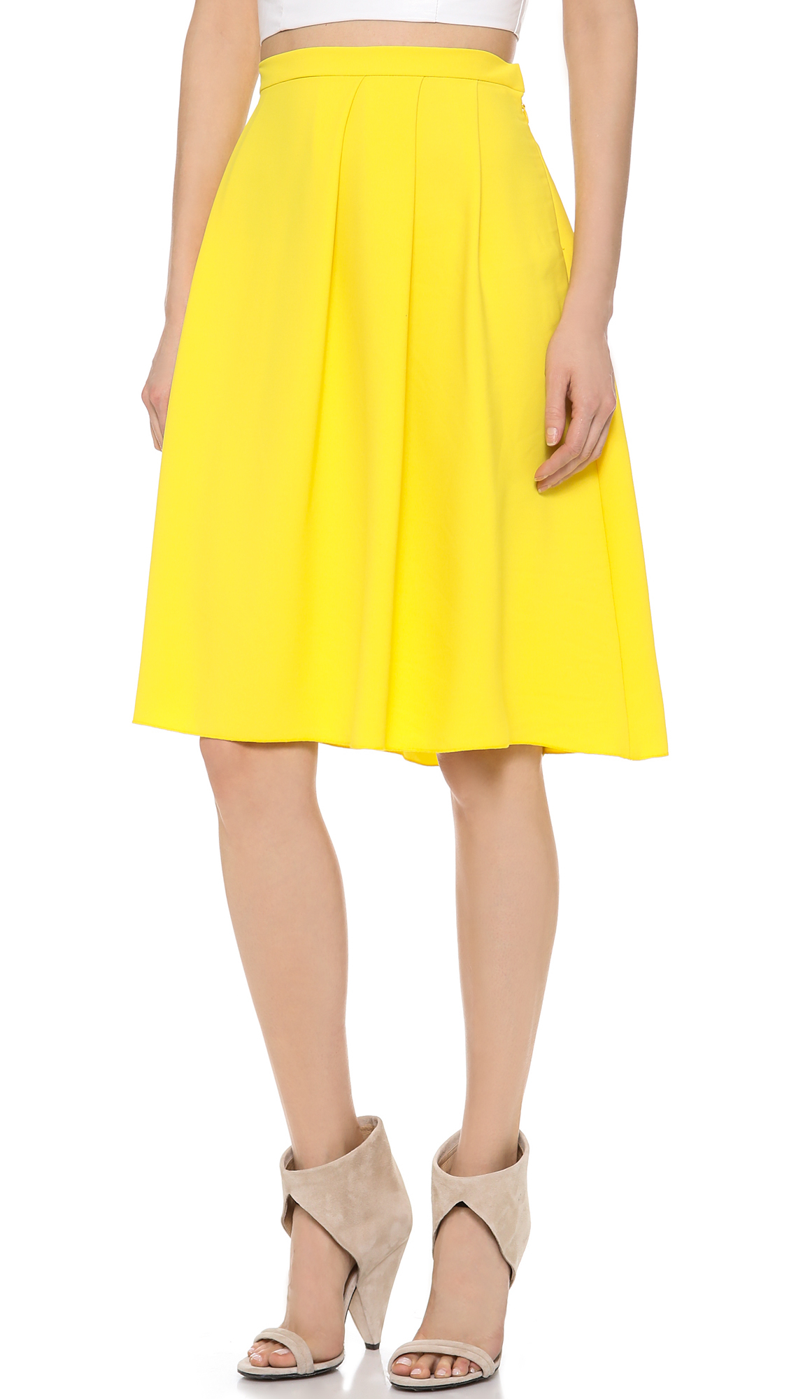 Clover Canyon Solid Skirt In Yellow Lyst