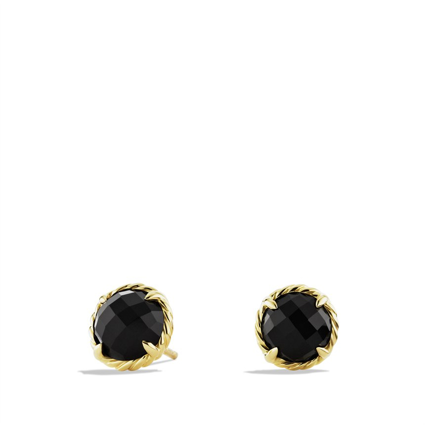 Lyst David Yurman Chatelaine Earrings With Black Onyx In