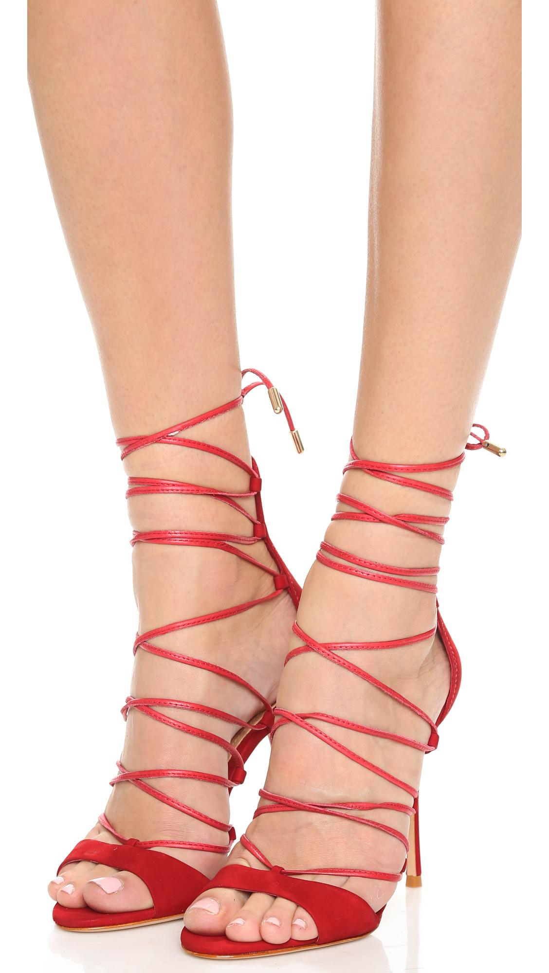 Schutz Lace Up Heels - Is Heel