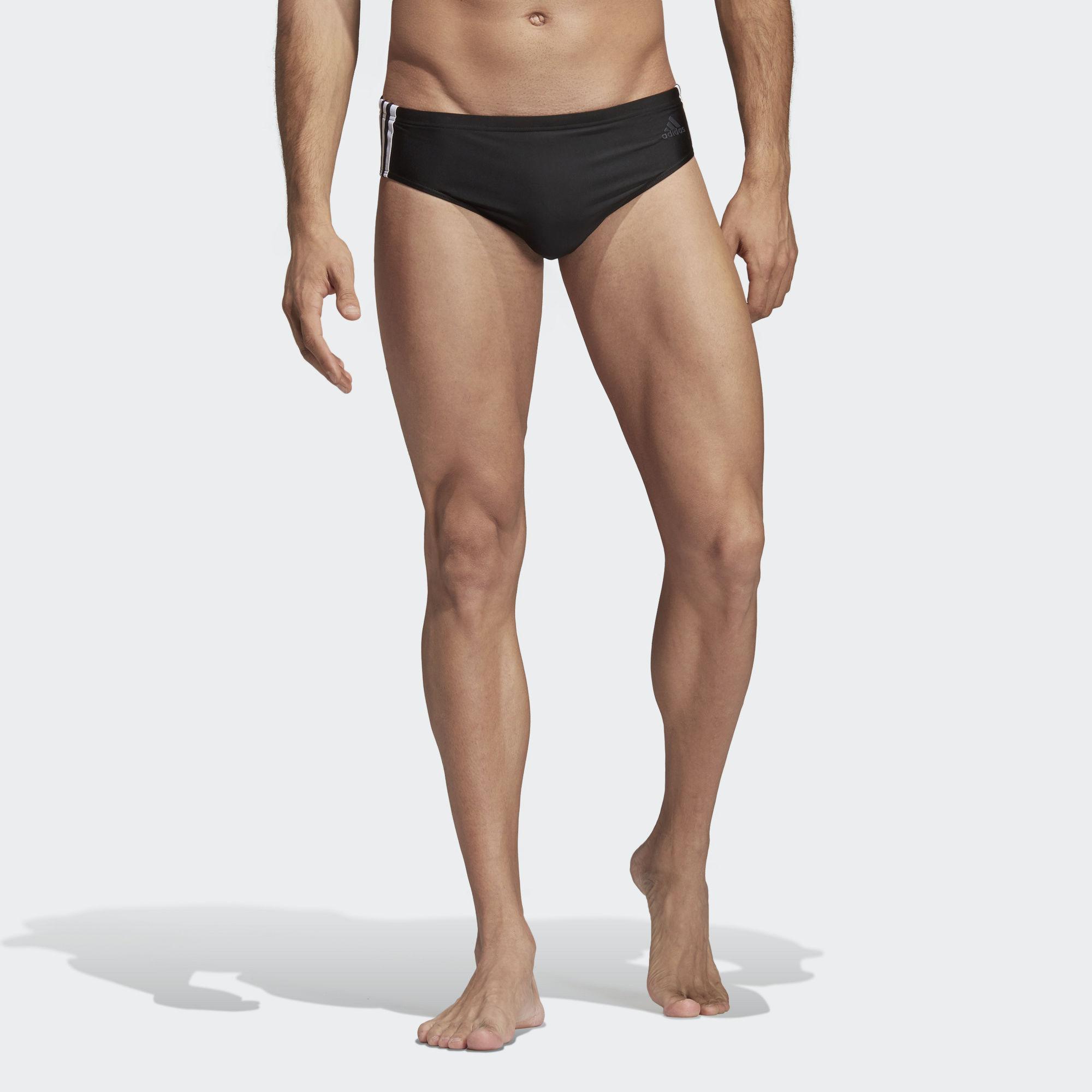 45e0adc116 adidas Fitness 3-stripes Swim Trunks in Black for Men - Lyst