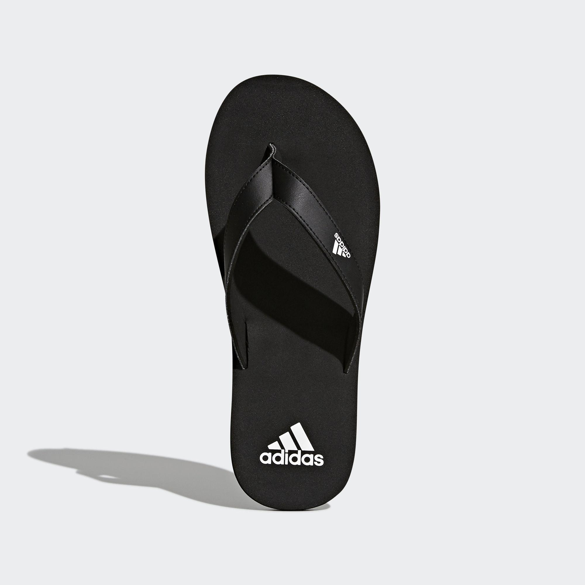 the best attitude 52fb5 2924a Adidas - Black Eezay Essence Thong Sandals for Men - Lyst. View fullscreen