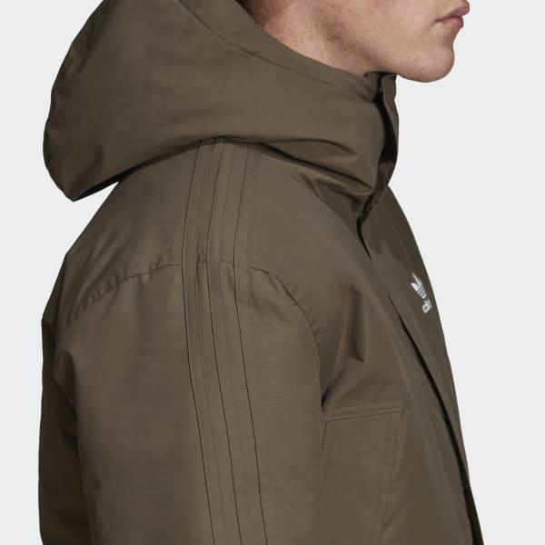 uk cheap sale cozy fresh great look adidas Padded Parka in Brown for Men - Lyst