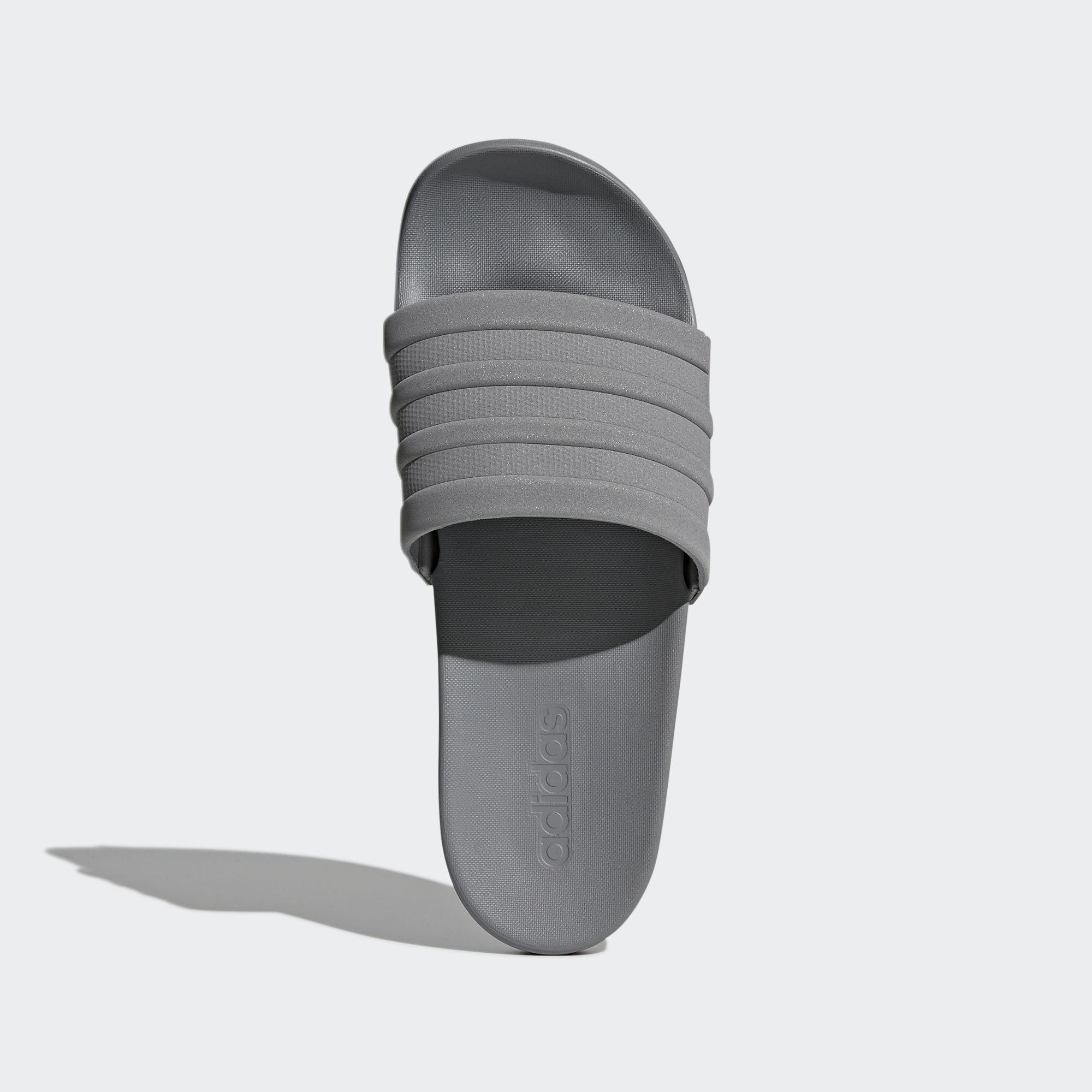a9512a34bf1b Adidas - Gray Adilette Cloudfoam Plus Mono Slides for Men - Lyst. View  fullscreen