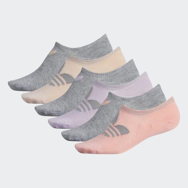 ed0c58e00 Lyst - Adidas Trefoil Super-no-show Socks 6 Pairs in Gray