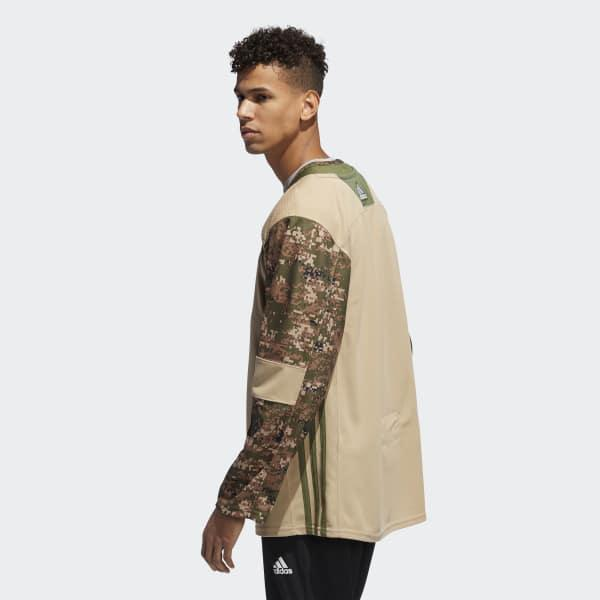 release date 6fbdf ca666 Lyst - adidas Islanders Camo Authentic Jersey in White for Men