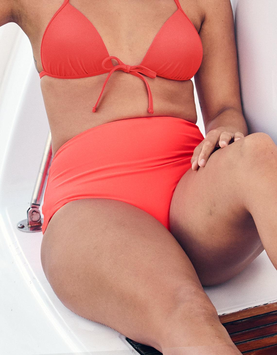 0d4b4b058b3f8 Lyst - American Eagle High Waisted Bikini Bottom in Red - Save 29%