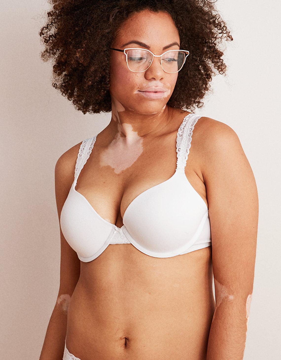 c342cb6914 Lyst - American Eagle Real Happy Demi Push Up Bra in White