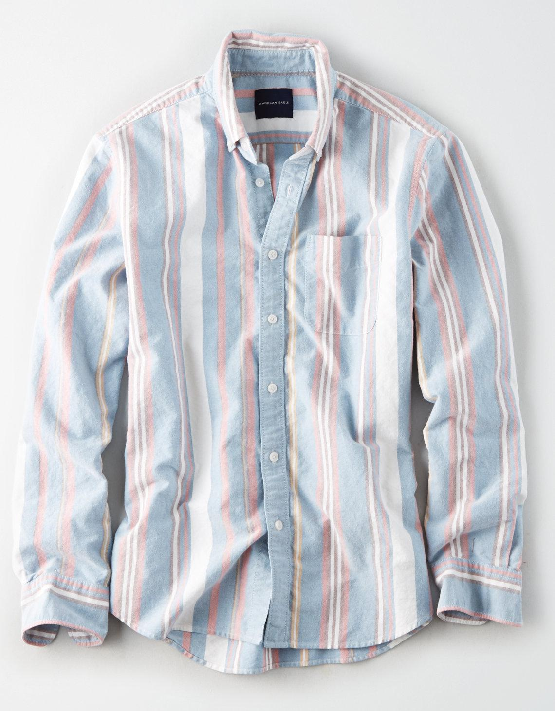 fa75c6c0 American Eagle Ae Seriously Soft Oxford Button Down Shirt in Blue ...