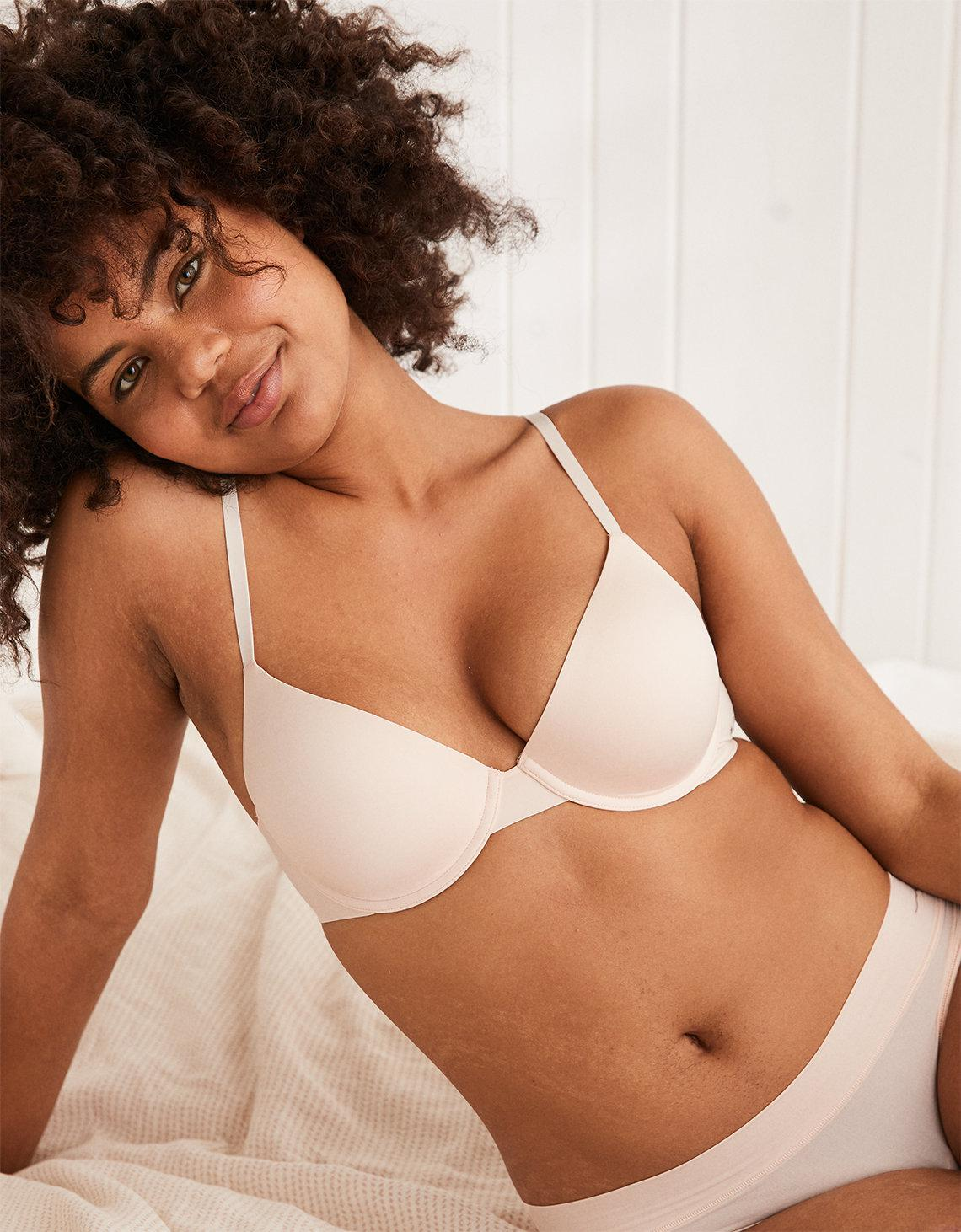 7d893d0912736d Lyst - American Eagle Real Me Full Coverage Push Up Bra in Natural