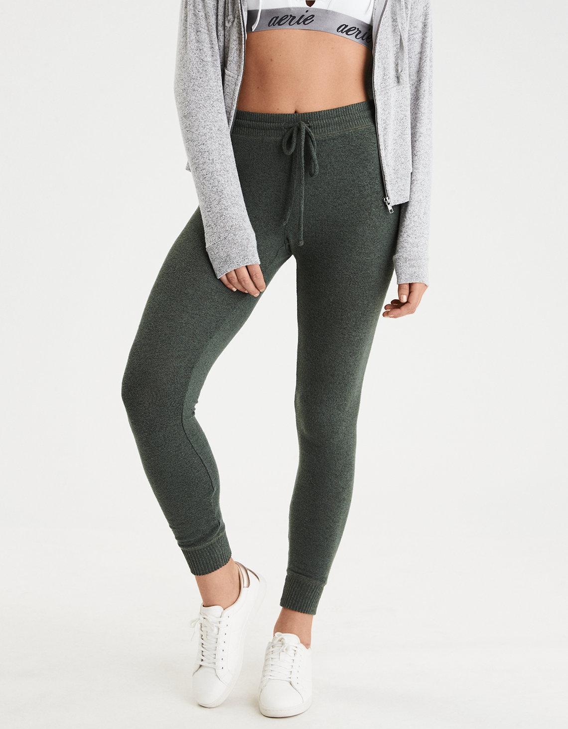 73345d6247ae1 American Eagle Plush Sweater Legging in Green - Lyst