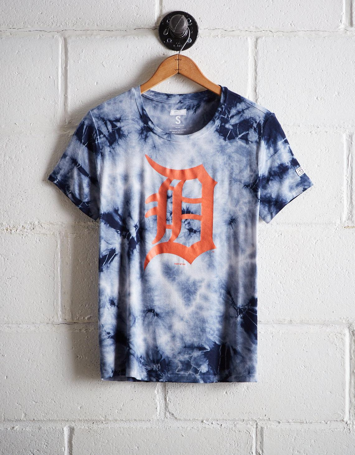 Lyst - Tailgate Women s Detroit Tigers Tie-dye T-shirt in Blue 60a783423