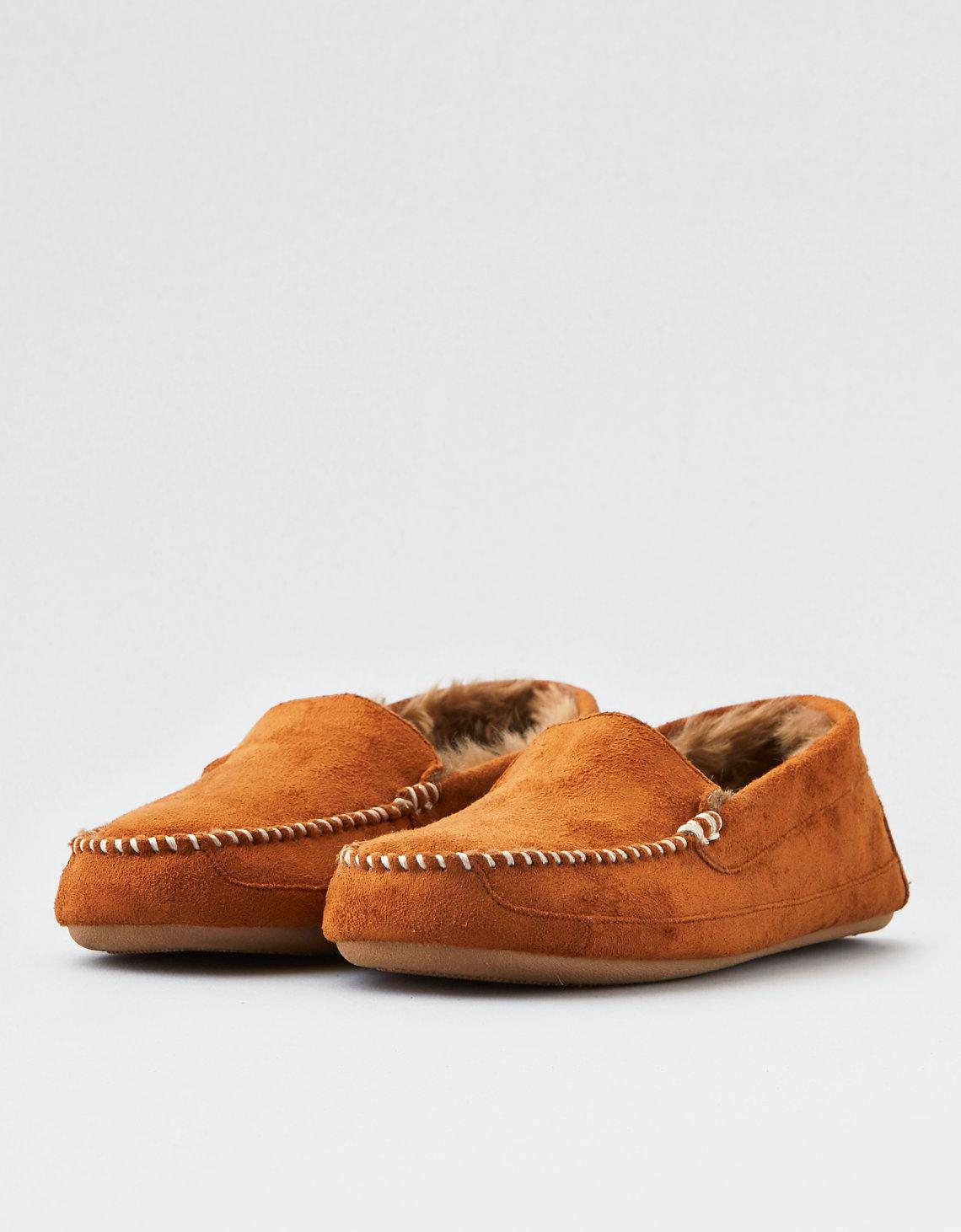 4ad3d0036e4d Lyst - American Eagle Suede Moccasin Slipper in Brown for Men