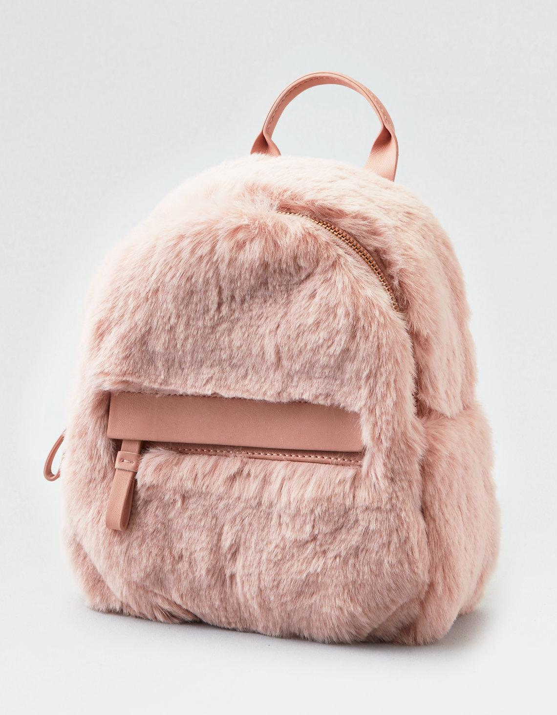 4e1589ed7 American Eagle Faux Fur Mini Backpack in Pink - Lyst