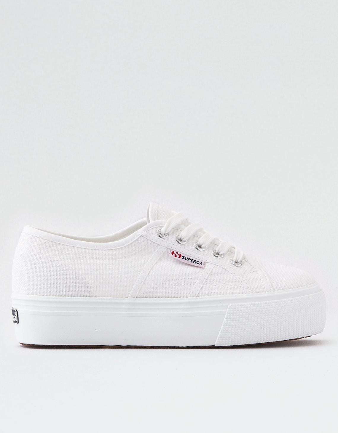 976435b61e61 Lyst - American Eagle Superga 2790 Platform Sneaker in White