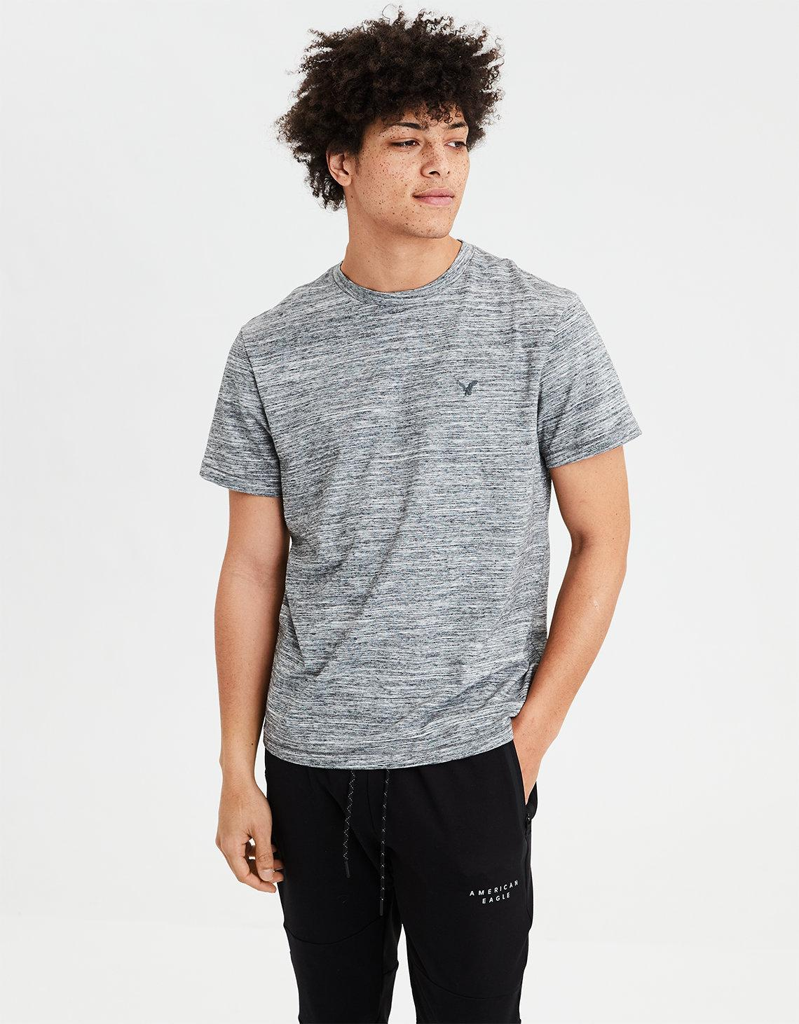 5e59cc4d6d35 American Eagle Ae Heathered Flex T-shirt in Gray for Men - Lyst
