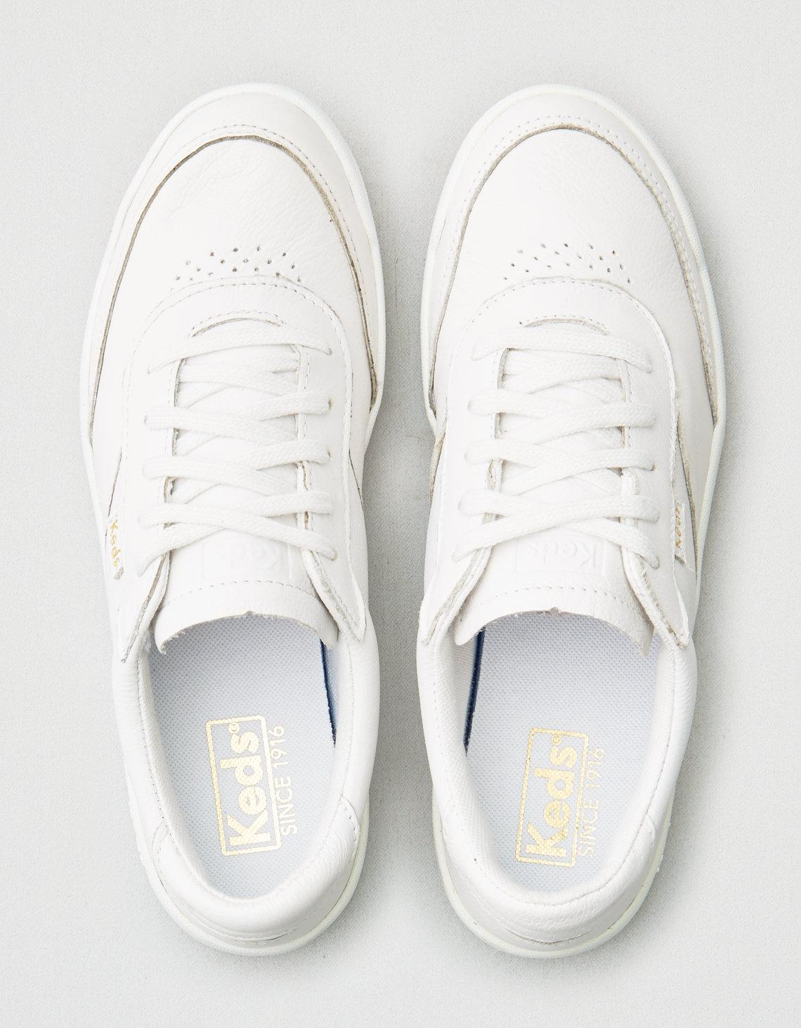 e8334879973 Lyst - American Eagle Keds Match Point Leather Sneaker in White