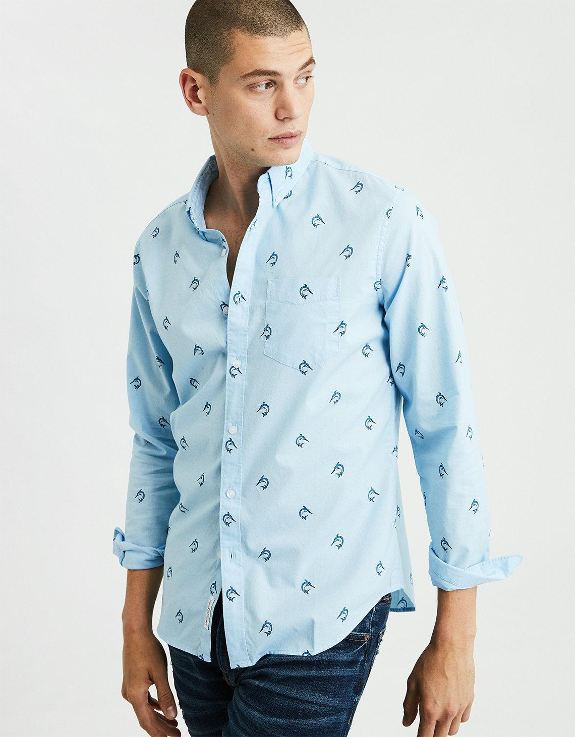3f2c604a American Eagle Button Down Dress Shirts – EDGE Engineering and ...
